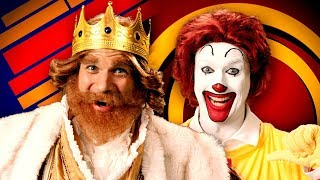Ronald McDonald vs The Burger King. Epic Rap Battles of History