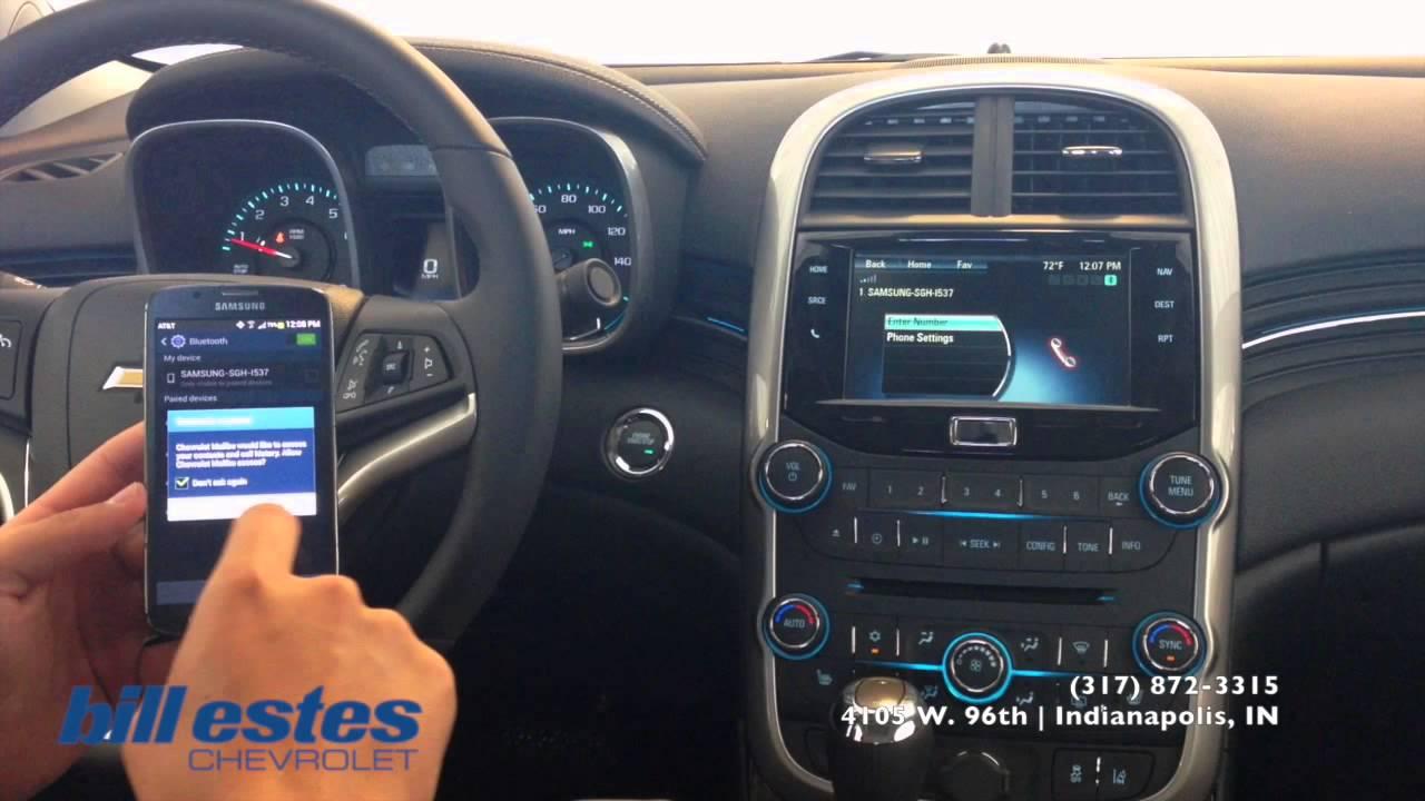 Bill Estes Chevrolet >> How To: Bluetooth Phone Pairing Chevrolet Camaro, Cruze, Equinox, Malibu, Traverse LS and Volt ...