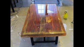Come creare tavolo in legno con resina epossidica