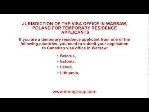 Jurisdiction of the visa office in Warsaw, Poland for temporary residence applicants