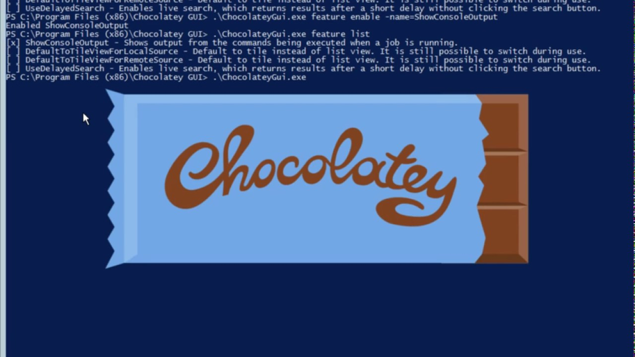 Chocolatey GUI Feature Command