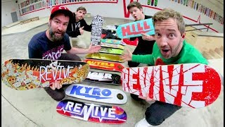 TONS OF BRAND NEW SKATEBOARDS! / ReVive Winter 2018