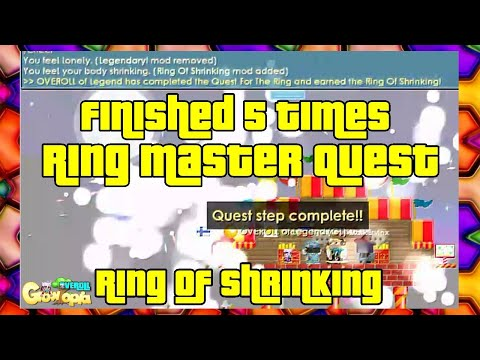 Finished 5 Times Ring Master Quest | Ring Of Shrinking ?! | Growtopia