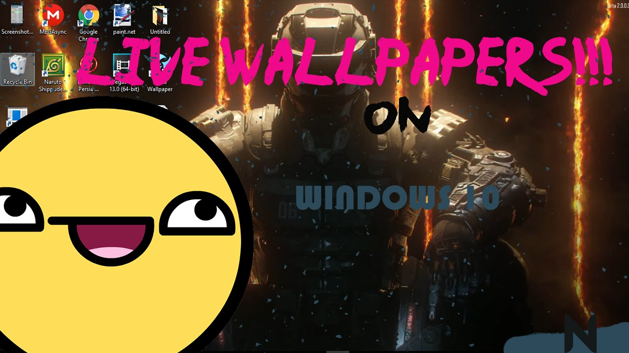 How to get LIVE WALLPAPERS on PC!!! - YouTube