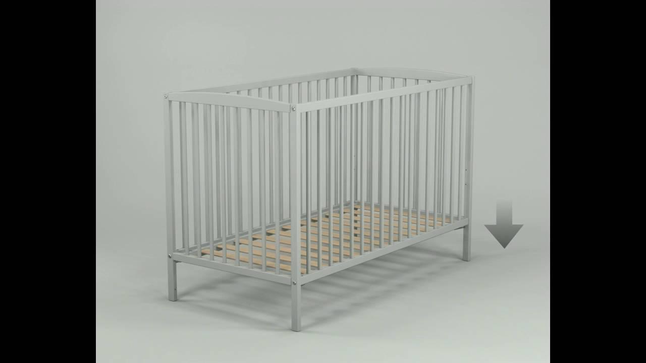 lit b b h tre 3 barreaux amovibles lucas youtube. Black Bedroom Furniture Sets. Home Design Ideas