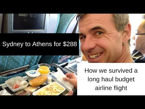SYDNEY To ATHENS Scoot  - Cheap Long Haul Budget Airline Travel