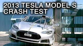 2013 Tesla Model S | Pole Crash Test by NHTSA