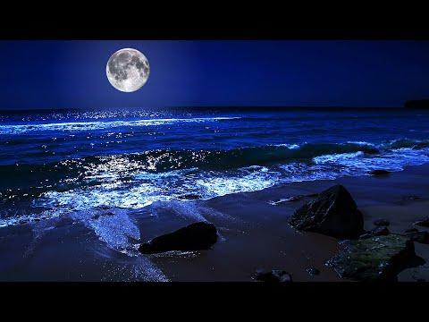 Fall Asleep On A Full Moon Night With Calming Wave Sounds - 9 Hours Of Deep Sleeping On Mareta Beach