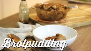 Brotpudding mit Äpfeln VEGAN - Festtagsreste verwerten|yummy quickie
