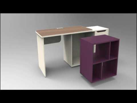 """Серия офисной мебели """"Мобиле""""  стол с модулем"""