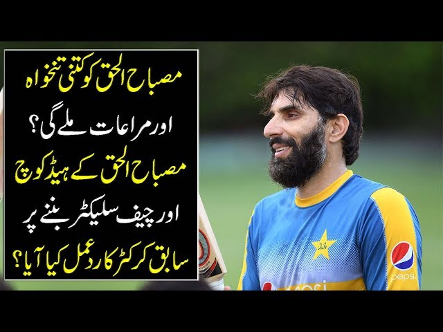 Salary of the newly selected Chief selector of Pakistan Cricket team misbah ul haq | 9NewsHD