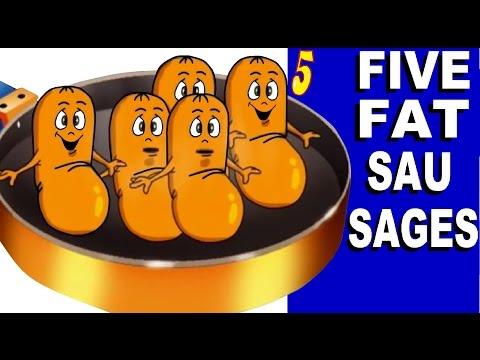 FIVE FAT SAUSAGES   with Lyrics