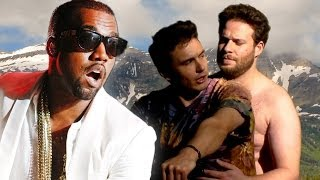 Repeat youtube video Kanye West Reacts To Seth Rogen and James Franco Bound 2 Parody