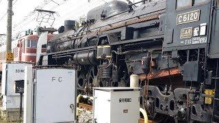 "〔4K UHD/sp〕JR東日本・上越線:新前橋~井野駅間、EF81 97+SL""C61 20""+オヤ12 1+12系客車4B/ 「SLおが」返却回送シーン。《配9742レ》"