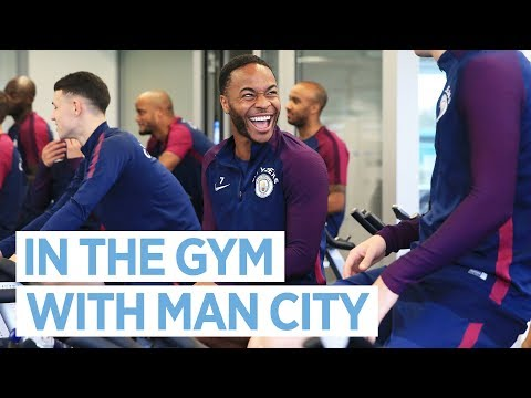 IN THE GYM!   Man City Training