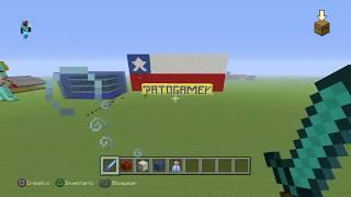 [tutorial minecraft] como hacer la bandera de chile paso a paso (patoGamer)