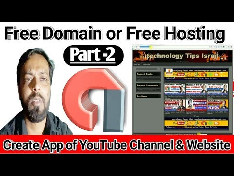 Create Android app of YouTube Channel or WordPress Website in hindi Part - ( 2 ) 2018
