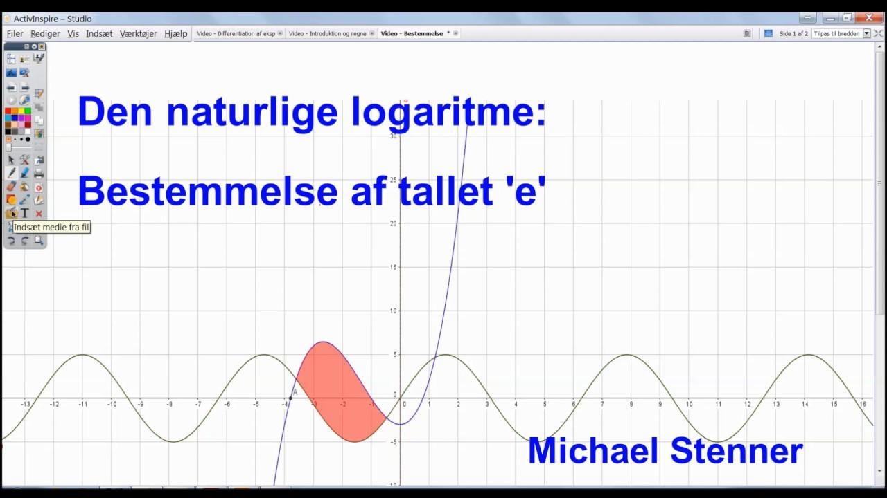 Den naturlige logaritme - Bestemmelse af Eulers tal 'e'