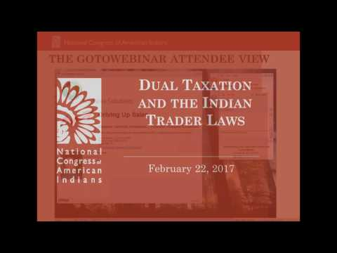 Dual Taxation and the Indian Trader Laws Webinar