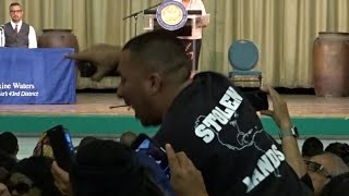 TRUMP SUPPORTERS TOSSED FROM MAXINE WATERS TOWNHALL WHEN RACIST NAUI HAS SJW MELTDOWN