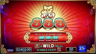 HIGH LIMIT F U 888 Slot Machine Bonuses Won - GREAT SESSION | Live Slot Play in LAS VEGAS W/NG Slot