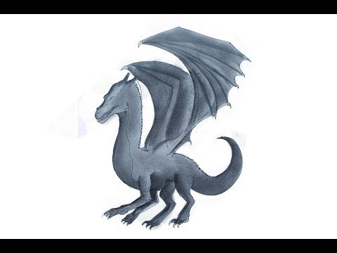 How to draw a dragon Pencil Sketch | Cool Drawing