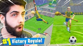 J'AI ACHETÉ THE SKIN - FOOTBALL PLAYER - ET TOMBE DANS LE STADIUM! -Fortnite Bataille Royale