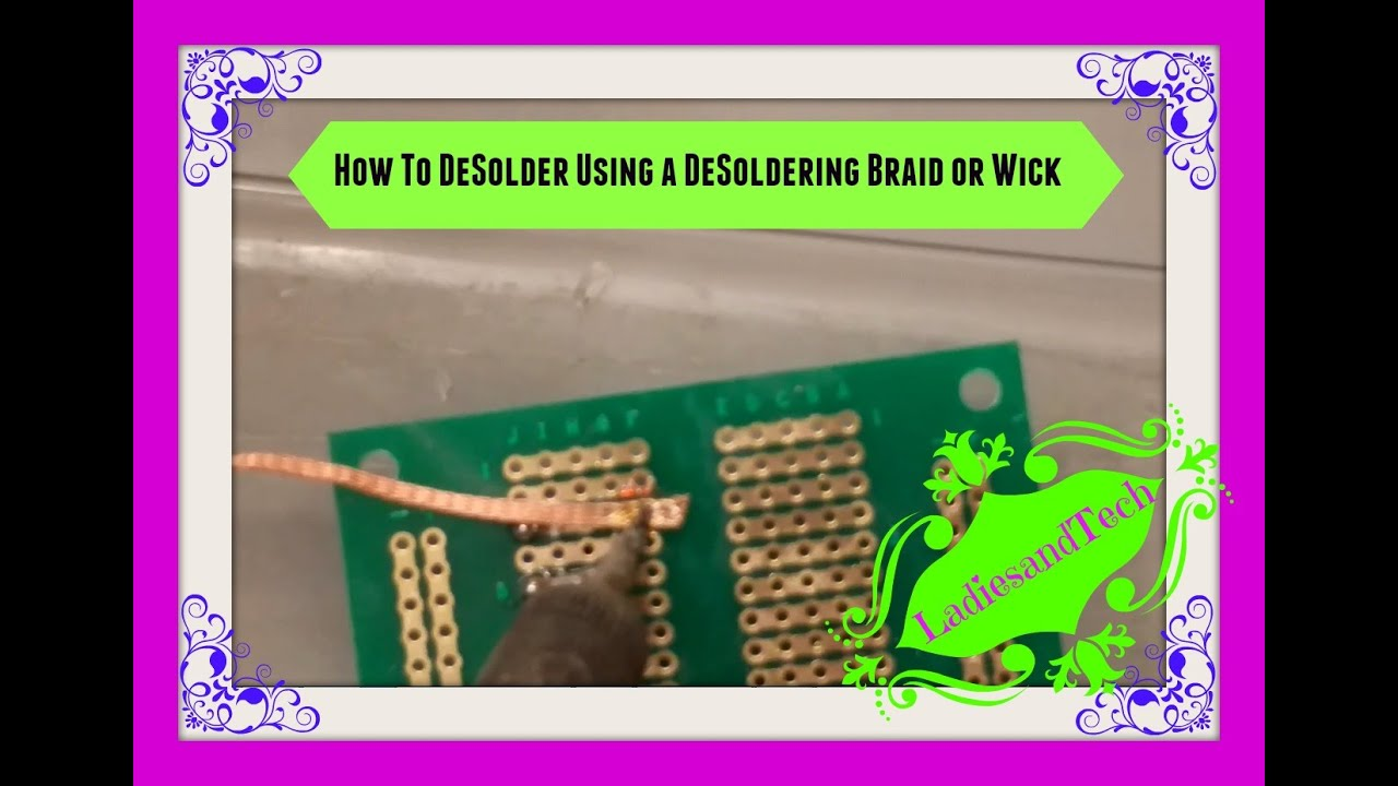 Smd hot air soldering desoldering braid youtube.