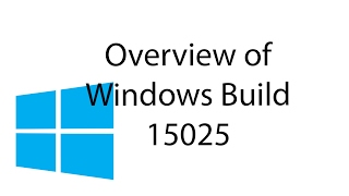 Overview of Windows Insider Build 15025