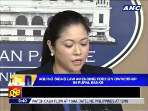 Aquino signs law allowing foreign ownership in rural banks