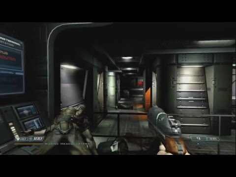 Let's Play Doom 3 BFG Edition Ep. 3- Marine Headquarters