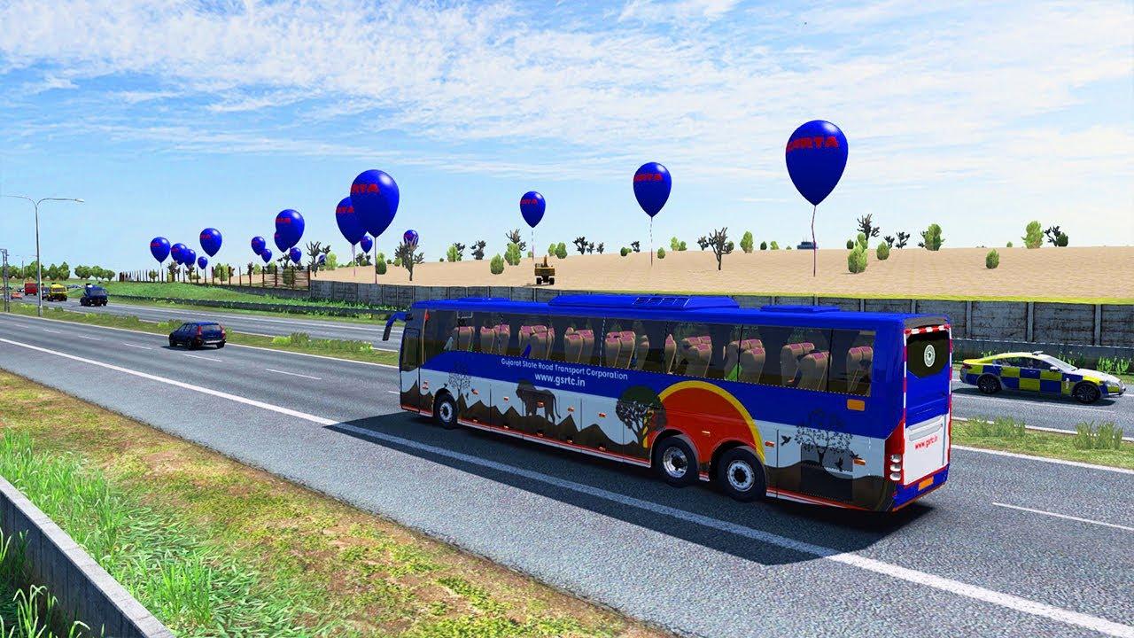 Volvo B11R Bus   GSRTC Volvo   Express Way Journey