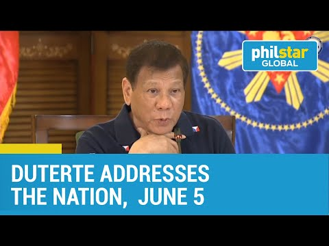 Duterte meets with IATF, addresses the nation June 5