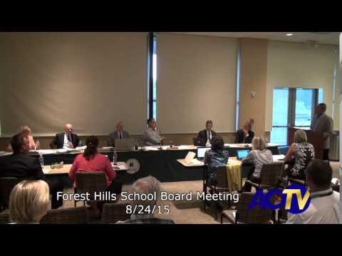 Forest Hills School Board Meeting 8/24/15