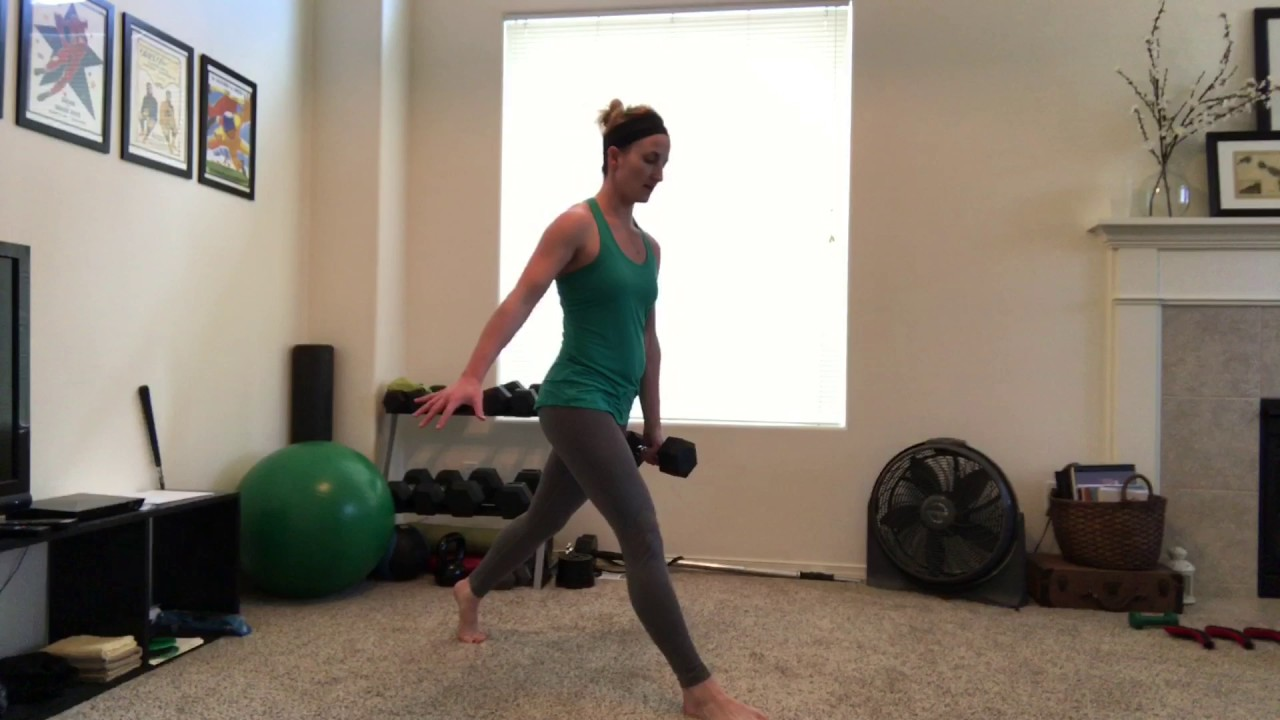 Beginner One-Dumbbell 10 minute Strength Training (March Workout B) - YouTube