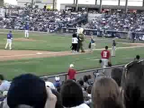 Fort Worth Cats Mascot Dodger Races Kid