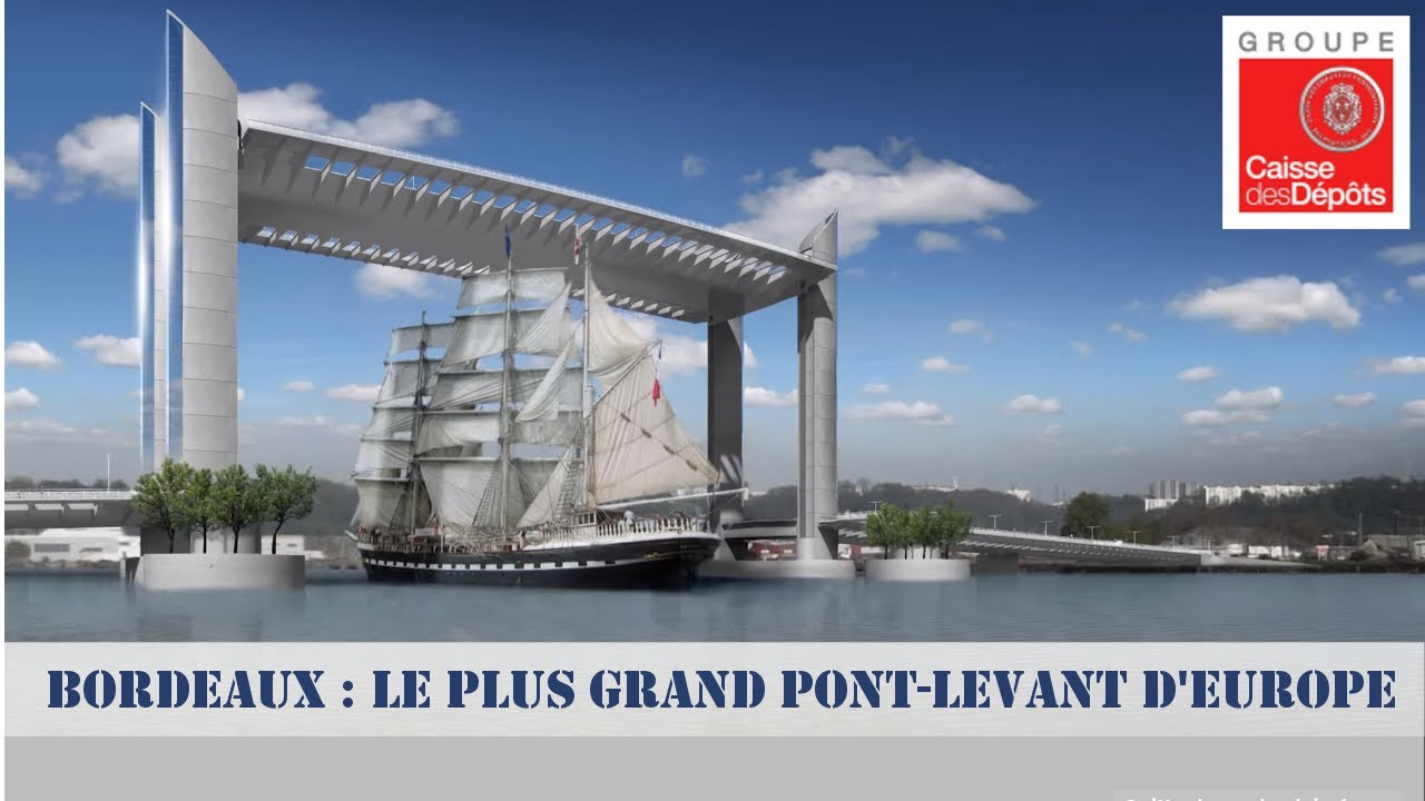 Bordeaux Le Plus Grand Pont Levant D Europe Youtube