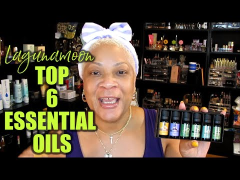 Lagunamoon Top 6 Pure Essential Oils for Diffuser, Humidifier, Massage, Aromatherapy, Skin & More
