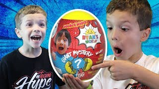 Pretend Play with Ryan Surprise Egg from Ryan ToysReview!  Family Fun for Kids!