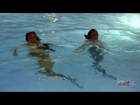 Real Mermaids Swim In The Disneyland Hotel Pool Youtube