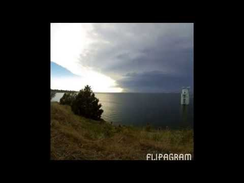 Short Time-lapse I took of a Supercell thunder storm forming over a lake near Ogallala, NE. USA.