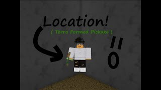 How to get the Roblox ATF Mirage Terraformed Pickaxe!