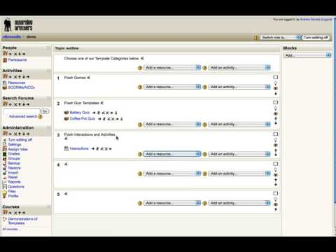How To Insert Flash Interactions Into Moodle