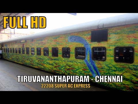 THIRUVANANTHAPURAM to CHENNAI in 13 Hours : On Board SUPER AC Express | INDIAN RAILWAYS