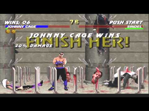 MKT PC Win with sound Johnny Cage Gameplay (Very Hard)