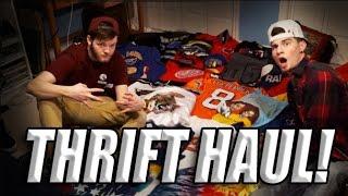 Largest Thrift Haul Evar!! Vintage Pickups, Jerseys, Hats, Jackets, and More!