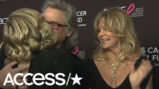 Goldie Hawn & Kurt Russell Adorably Crash Daughter Kate Hudson's Interview | Access