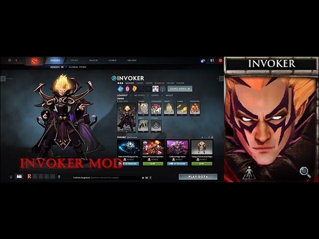Dota 2 - Invoker Dark Artistry + Magus Apex Mod Set (7.05)  BP17 updated