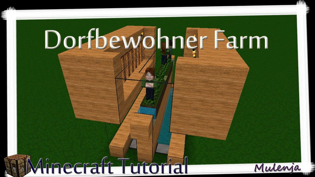 Minecraft Automatische Dorfbewohner Farm Minecraft Tutorial - Minecraft dorfbewohner bauen hauser mod
