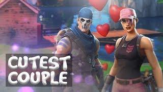 CUTEST COUPLE of Fortnite! DOMINATING SQUADS! 33 Kill Games! - Fortnite Battle Royale